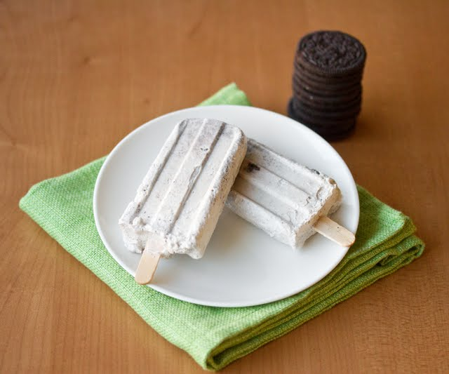 Cookies and Cream Ice Pops