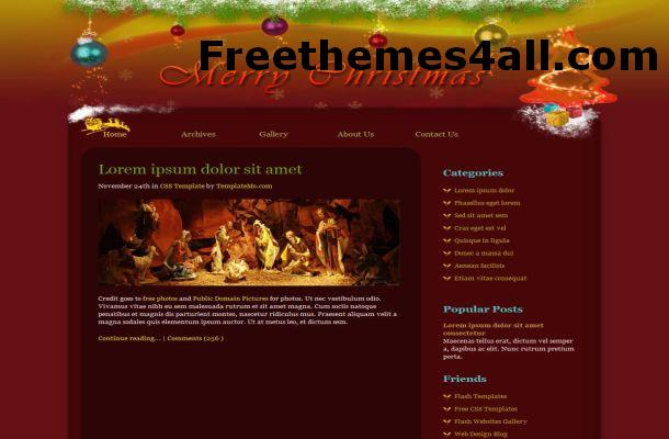 Free HTML Christmas Red Website Template