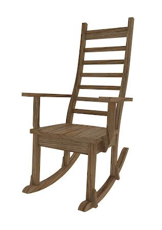 Horizon Rocking Chair in Medium Oak