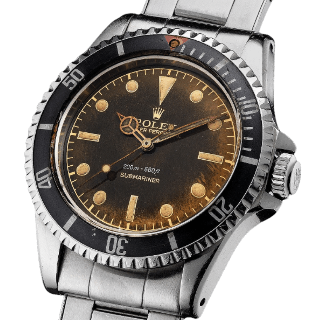Photo of Rolex Submariner Ref. 5512 with Eagle Beak Crown Guards