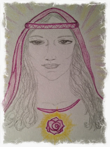 inspired drawing of Lady Nada by ChristinA Ritchie