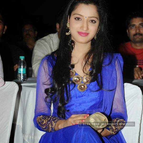 Richa Panai during a filmy event in Hyderabad.