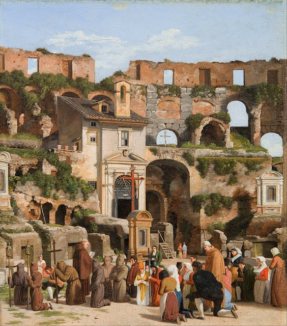 Christoffer Wilhelm Eckersberg - View of the interior of the Colosseum - Google Art Project