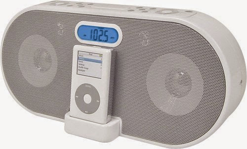 iLive ICR6806DT Digital Clock Radio with iPod Docking Station (White)