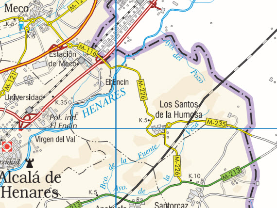 Mejora del firme de la carretera M-235 en Los Santos de la Humosa