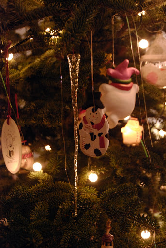 ornaments on the Christmas tree