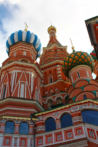 St Basil's Cathedral coloured domes