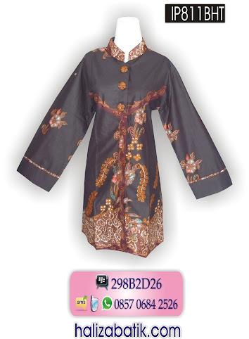 IP811BHT Baju Seragam, Blus Batik Terbaru, Model Blus Batik, IP811BHT