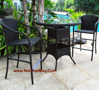 Outdoor Wicker Bar Set Minh Thy 822