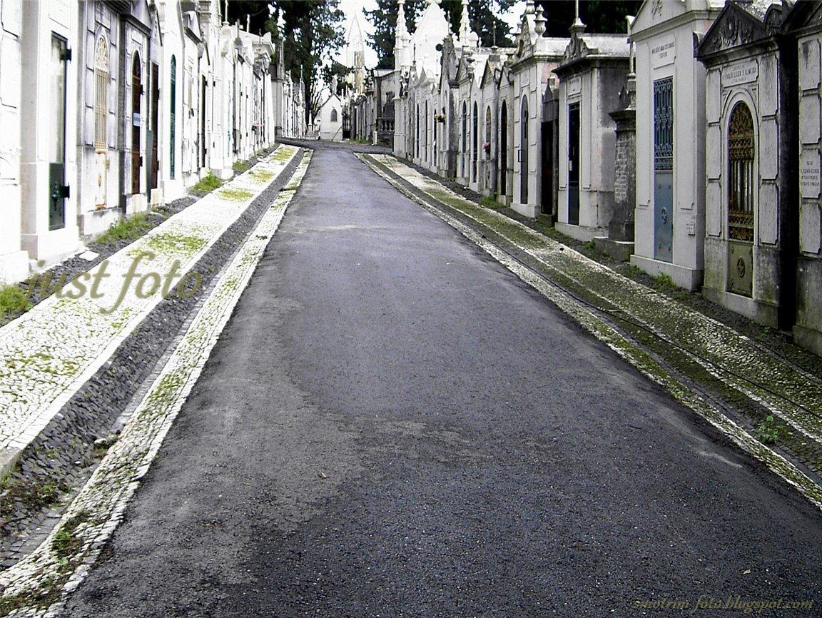 Склепы на кладбище в Лиссабоне фото
