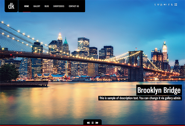 DK for Photography WordPress Theme