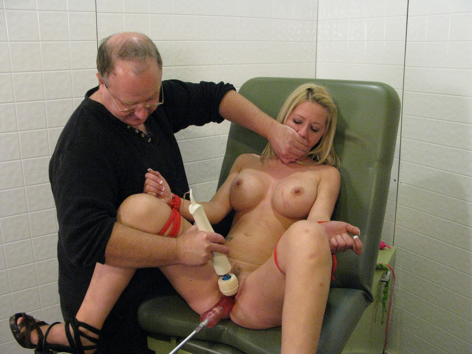 Can tied up and fucked by a machine are