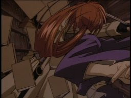 Nail him with some Russian lit, Kenshin! That stuff hurts even without it being hurled at your face!