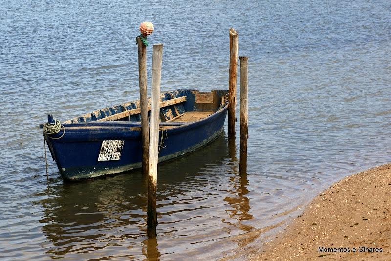 Barcos na Lagoa de Óbidos