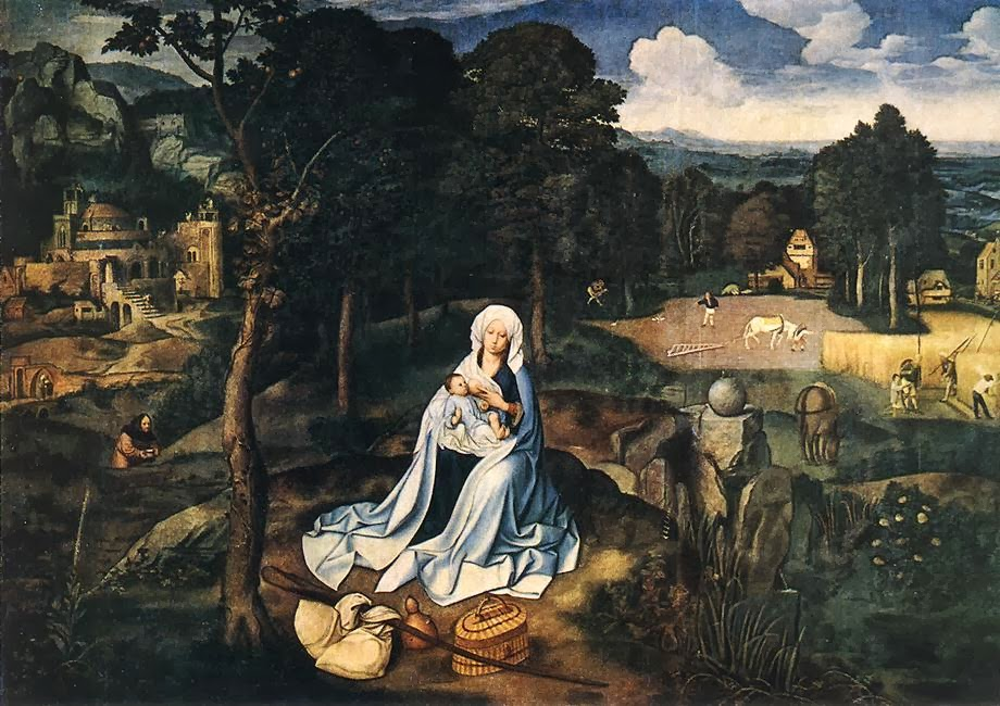 Joachim Patinir - Rest during the Flight to Egypt