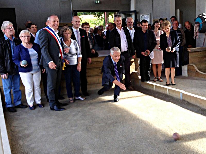 Inauguration du boulodrome de Saint-Thuriau le 24 septembre 2016