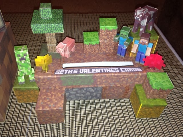 if your kids love minecraft they will love this site it offers all kinds of free printables we used it to create this years valentines boxes - Kids Valentine Boxes