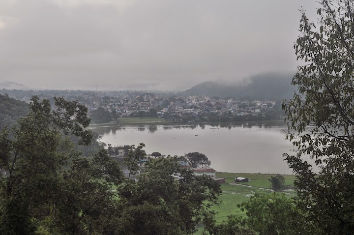 Pokhara city & Phewa Lake seen from The Hidden Paradise Guest House