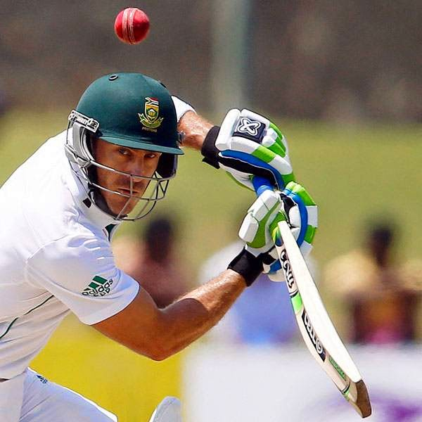 South Africa's Faf du Plessis plays a shot during the first day of first test cricket match against Sri Lanka in Galle July 16, 2014