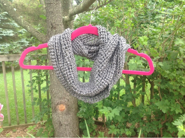 Liquid Silver Scarf Free Knitting Pattern