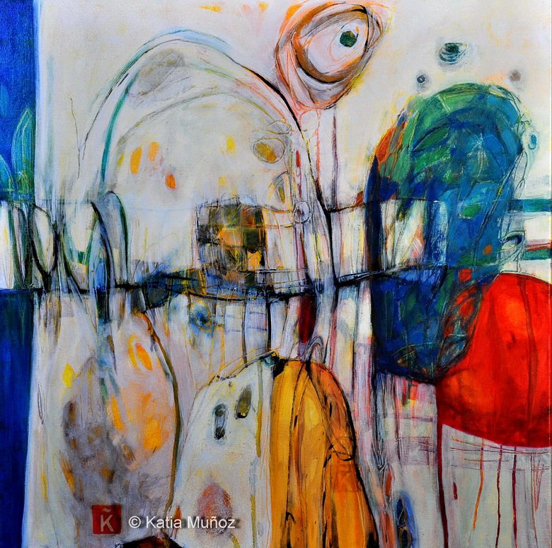 cielo inclinado pintura de katia muñoz