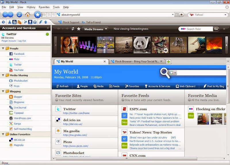 Screenshot of Flock v.2.6.1 Internet Browser PC Software Free Download at alldownloads4u.com