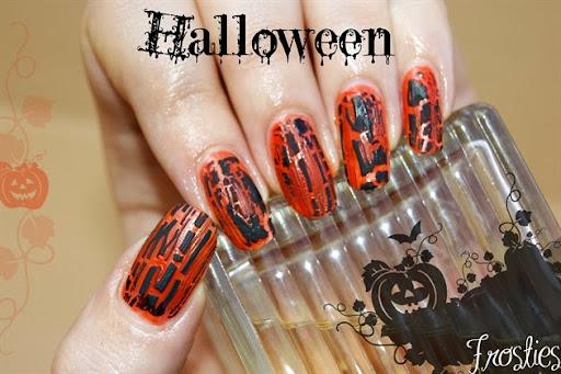 vernis crackle Halloween Orange