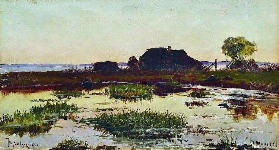 Julius Sergius von Klever - Lahti. Fishing hamlet. 1878