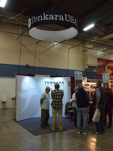 Tenkara USA booth at the Fly Fishing Show in Pleasanton