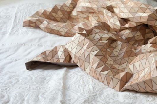 Wooden Textile Blanket by Elisa Strozyk