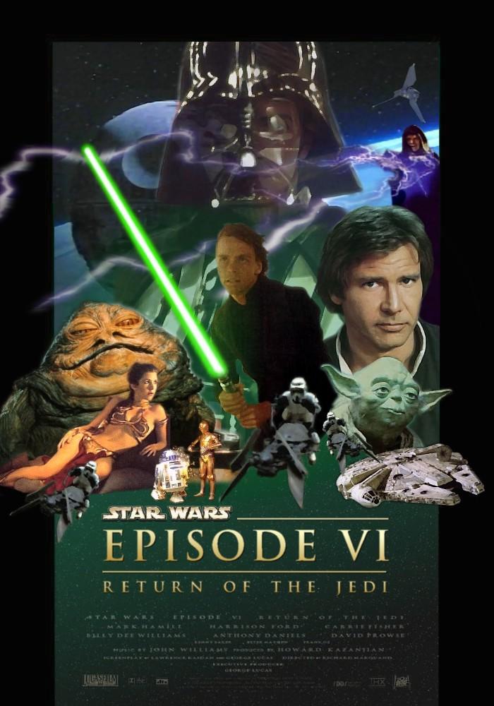 Star wars episode 6 movie poster