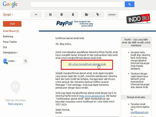 Cara verifikasi email akun paypal