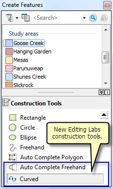 Curve Construction Tool ArcGIS 10