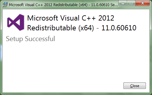 Visual C++ Redistributable for Visual Studio 2012