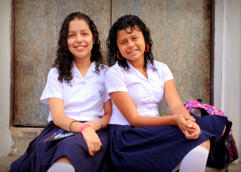 High school girls in Matagalpa, Nicaragua