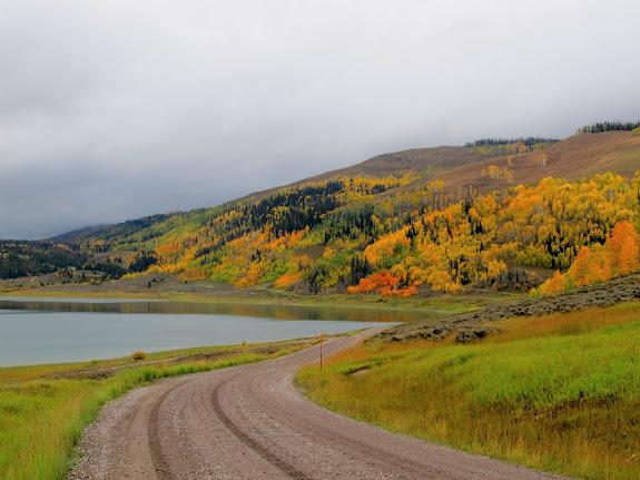 Miller Flat Road at Miller Flat Reservoir