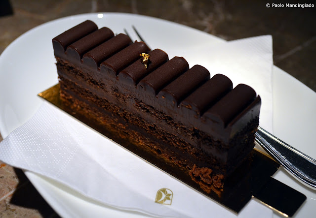Truffle Cake Slice - Delicious chocolate biscuit pastry, filled with truffle ganache made from dark chocolate.