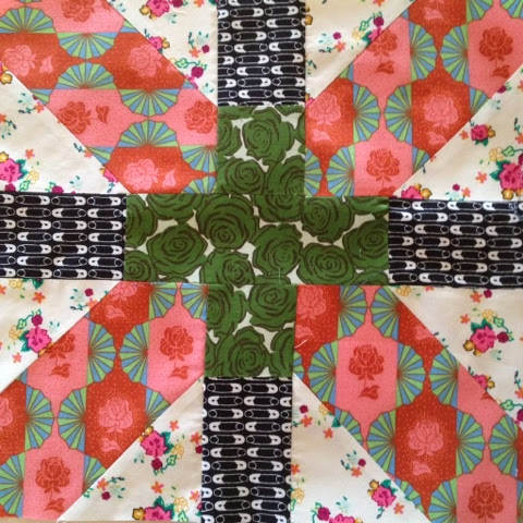 X and Plus quilt block