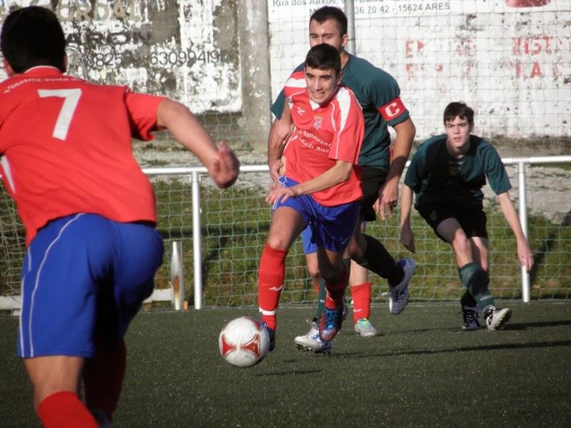 Numancia de Ares. Instante partido juveniles Numancia - Meirás (11/01/2014)