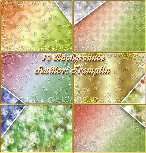 10 фонов - Блестящее разноцветье