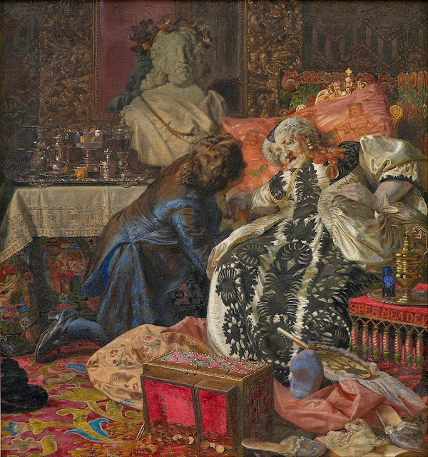 Kristian Zahrtmann - The Death of Queen Sophie Amalie - Google Art Project