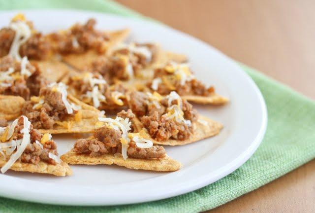 close-up photo of Homemade Doritos Tacos