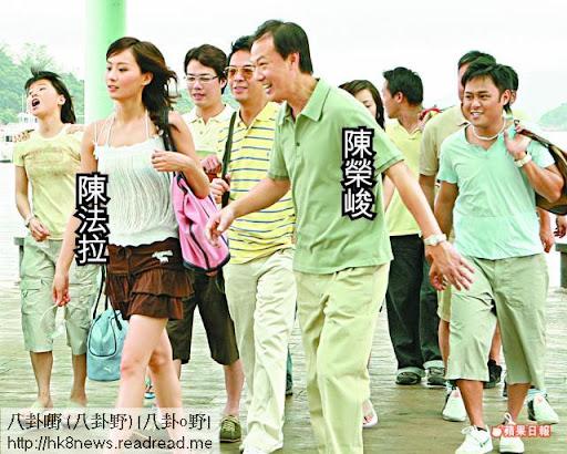 陳榮峻與不少小花合作過,陳法拉亦是其中之一。 《師奶兵團》劇照