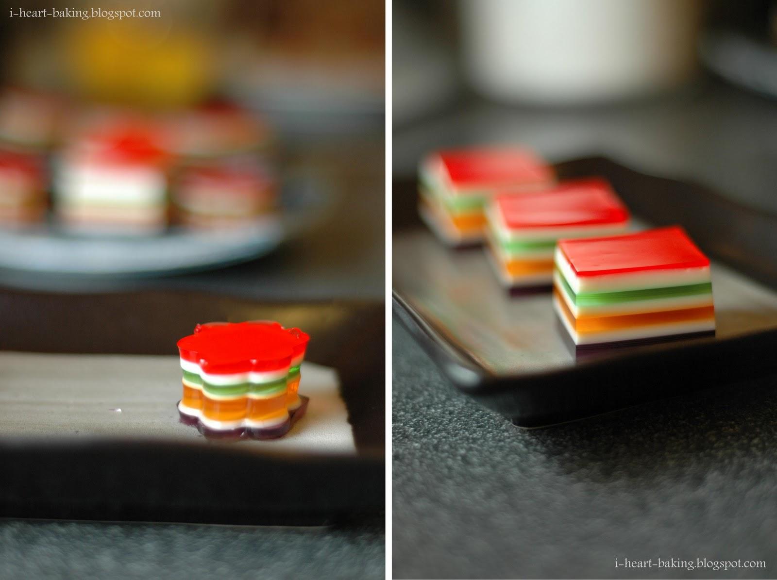 Layered Jell-O Hearts Recipe — Dishmaps