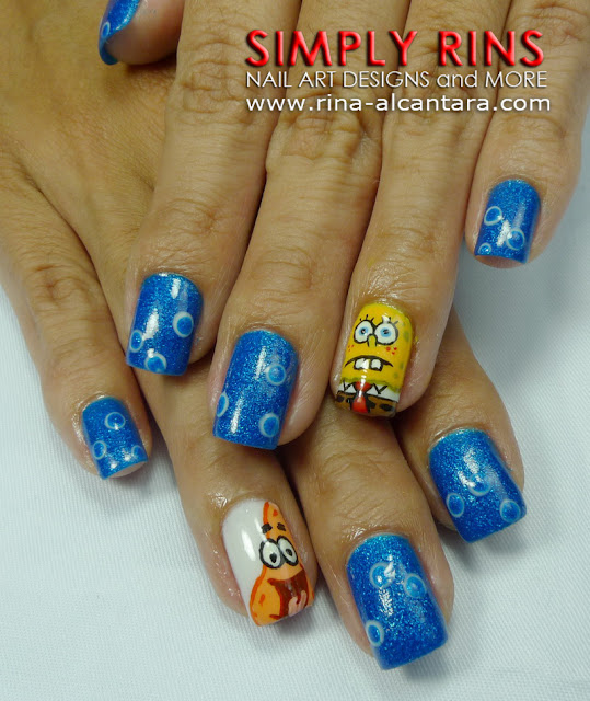 July 2011 simply rins spongebob and patrick nail art design prinsesfo Image collections