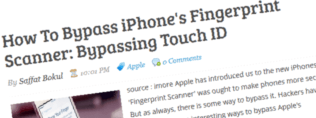 How To Bypass iPhone's Fingerprint Scanner: Bypassing Touch ID