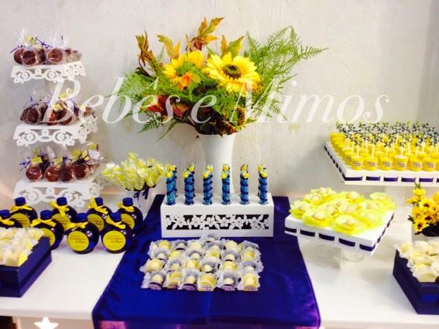 decoracao de festa azul marinho e amarelo:Bebês e Mimos Festas: Festa Marinho e Amarelo