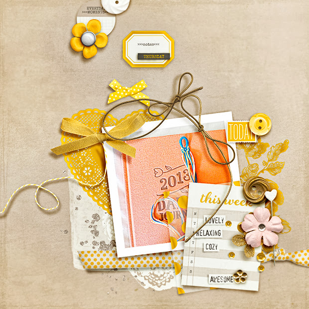 This Week: Lovely // 12x12 // Days of the Week: Saturday by Mari Koegelenberg + Sugarplum Paperie