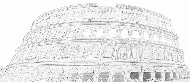 Colosseum sketch front view