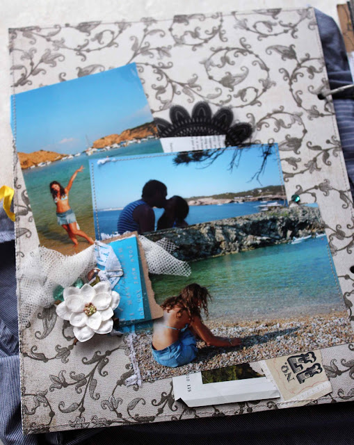 Скрап-страничка про пляжи